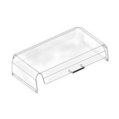 APW SG-50 Sneeze Guard, Sloped Front Design, For Hot Dog Grills Approx 36 x 20 in on Sale