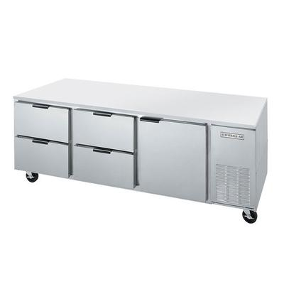 SB: Beverage Air UCRD72A-4 72  Compact Undercounter Refrigerator with 1 Door and 4 Drawers - 21.5 Cu. Add convenient, compact refrigerated food storage to your kitchen with this Beverage-Air UCRD72AHC-4 72  compact undercounter refrigerator with 1 door and 4 drawers. Great for pizzerias and prep kitchens, this undercounter refrigerator easily fits...