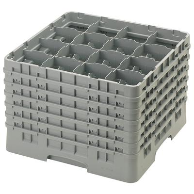 Cambro 16S1214151 Camrack Glass Rack - (6)Extenders, 16 Compartment, 12 5/8H Soft Gray on Sale