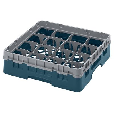Cambro 16S318414 Camrack? Glass Rack w/ (16) Compartments - (1) Gray Extender, Teal