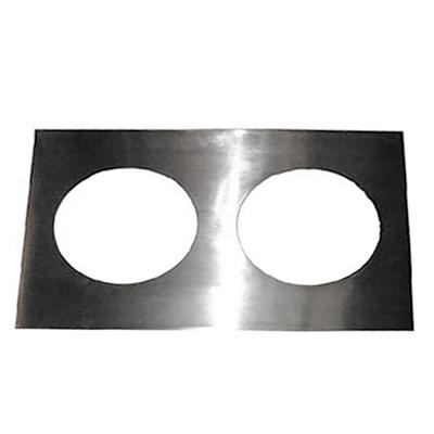 APW 14883 Adapter Plate, Two 8-1/2dia. Holes, To Convert 12x20 Openings on Sale