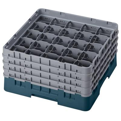 Cambro 25S800414 Camrack Glass Rack - (4)Extenders, 25 Compartment, Teal on Sale