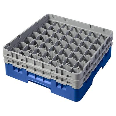 Cambro 49S434168 Camrack Glass Rack - (2)Extenders, 49 Compartment, Blue on Sale