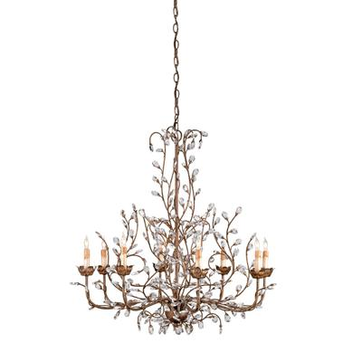 Currey and Company 9881 8 Light Crystal Light Chandelier