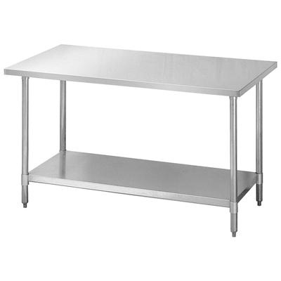 Turbo Air TSW-3096E 96 Work Table, 18/430 Stainless Top, Galvanized Shelf, 30 W on Sale