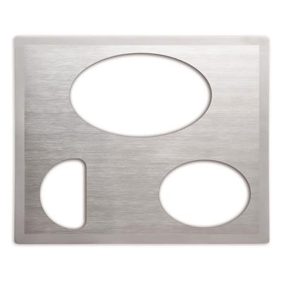 Vollrath 8250516 Miramar Double-Well Template - (1)Large Oval, (1)Small Oval, (1)1/2 Oval, Satin-Edge on Sale