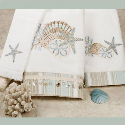 By the Sea Bath Towel Set White Bath Hand Fingertip, Bath Hand Fingertip, White