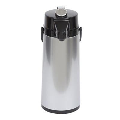 Bloomfield 7760-ALM 74 oz Lever Action Airpot w/ Glass Liner, Brew-Thru Stem, Aluminum on Sale