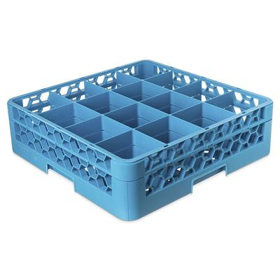 Carlisle RG16114 Full-Size Dishwasher Glass Rack w/ (16) Compartments & Extender, Blue on Sale