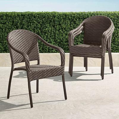 Cafe Curved Back Stacking Chairs, Set of Four - White - Frontgate