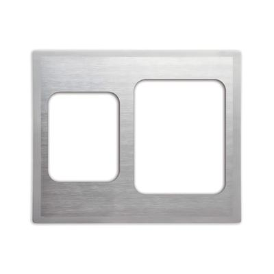 Vollrath 8250816 Miramar Double-Well Template - (1) Large and (1) Small Food Pan, Satin-Edge on Sale
