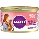 Halo Salmon Recipe Grain-Free Adult Canned Cat Food, 3-oz, case of 12