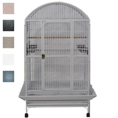 "A&E Cage Company Grey Palace Dometop X-Large Bird Cage, 36"" L X 28"" W X 65"" H, Gray"