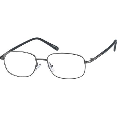 Zenni Classic Rectangle Prescription Glasses Gray Frame Other Metal 478912