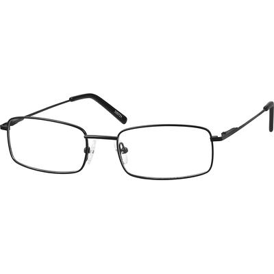 Zenni Lightweight Rectangle Prescription Glasses Black Frame Stainless Steel 320721