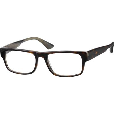 Zenni Classic Rectangle Prescription Glasses Tortoiseshell Plastic Frame