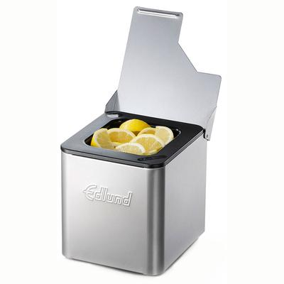 Edlund CSB-016 Cold Pan Box w/ 3/4 Hinged Lid, Black Plastic Insert, Stainless on Sale