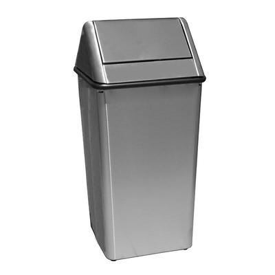 Witt 1311HTSS 13 gal Indoor Decorative Trash Can - Metal, Stainless Steel on Sale