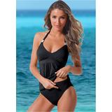 Siren Tankini TOP Tankini Tops - Black