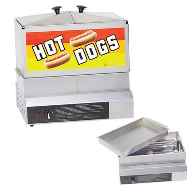 Gold Medal 8007DE Hot Dog Steamer w/ (80) Hot Dogs & (40) Bun Capacity, 120v on Sale