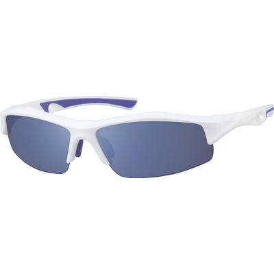 Zenni Men's Sporty Sunglasses White Plastic Frame
