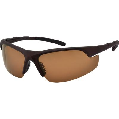 Zenni Men's Sporty Sunglasses Brown Plastic Frame