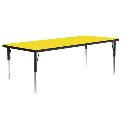 Correll A3060-REC 38 Activity Table w/ 1.25 High Pressure Top, 60W x 30D, Yellow on Sale