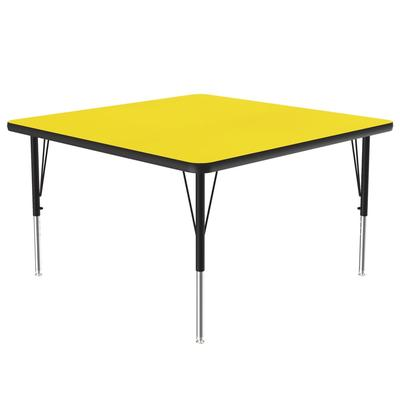 Correll A4848-SQ 38 Activity Table w/ 1.25 High Pressure Top, 48W x 48D, Yellow on Sale