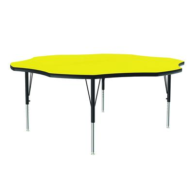 Correll A60-FLR 38 48 Flower Shape Table w/ 1.25 High Pressure Top, Yellow on Sale