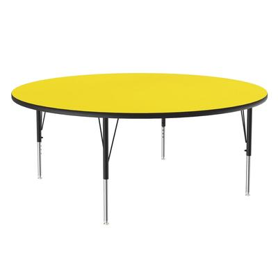 Correll A60-RND 38 60 Round Table w/ 1.25 High Pressure Top, Yellow on Sale