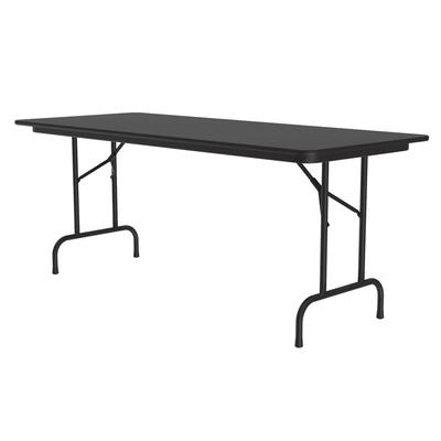 Correll CF3060PX 07 Folding Table w/ .75 High-Pressure Top, 30 x 60, Black Granite on Sale