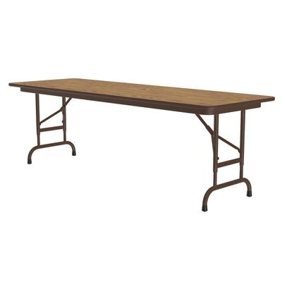 Correll CFA2460PX 06 Folding Table w/ .75 High-Pressure Top, Adjustable Height, 24 x 60, Oak on Sale