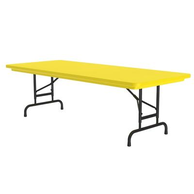 Correll RA3060 28 Folding Seminar Table w/ Blow-Molded Top, Adjusts To 32 H, 30 x 60, Yellow on Sale