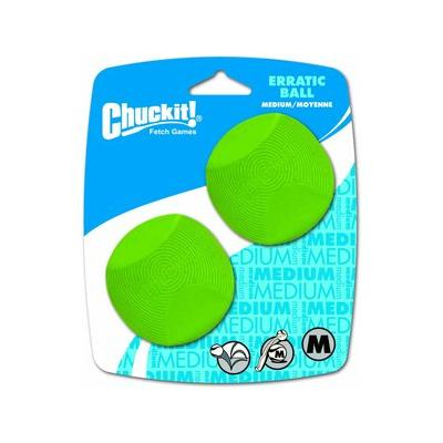 Chuckit! Erratic Ball Dog Toy, Medium, 2 pack