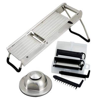 Winco MDL-15 Mandoline Slicer Set w/ Stainless Steel Hand Guard on Sale