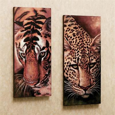 Tiger and Leopard Canvas Art Set Set of Two, Set of Two