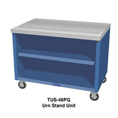 Duke TUS-46SS 46 Mobile Urn Stand Unit w/ 1 Drain, 4 Trough, All Stainless on Sale