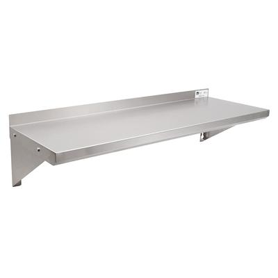 John Boos EWS8-1248 Solid Wall Mounted Shelf, 48W x 12D, Stainless on Sale