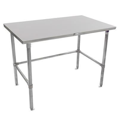 John Boos ST6-2472GBK 72 16 ga Work Table w/ Open Base & 300 Series Stainless Flat Top on Sale