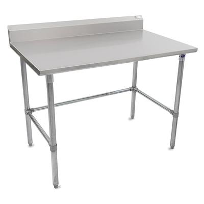 John Boos ST6R5-3048GBK 48 16 ga Work Table w/ Open Base & 300 Series Stainless Top, 5 Backsplash on Sale
