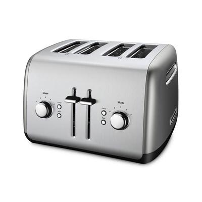 KitchenAid KMT4115CU 4 Slice Toaster w/ Manual High-Lift Lever, Contour Silver on Sale