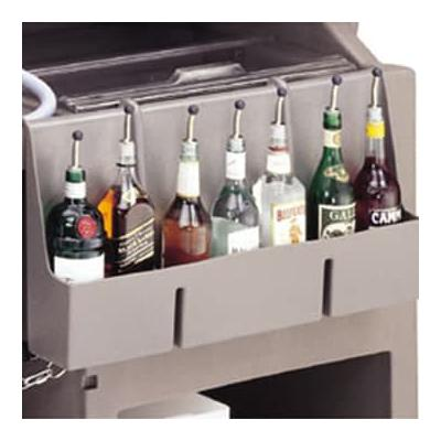 Cambro 730SR110 Partitioned Speed Rail - 7 Bottle, 29x6 1/2x14 5/8 Black on Sale