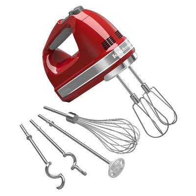 KitchenAid KHM926ER 9 Speed Hand Mixer w/ Exclusive Accessory Pack, Empire Red