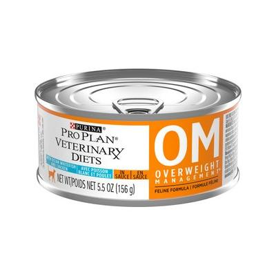 Purina Pro Plan Veterinary Diets OM Overweight Management Formula Canned Cat Food, 5.5-oz, 24ct