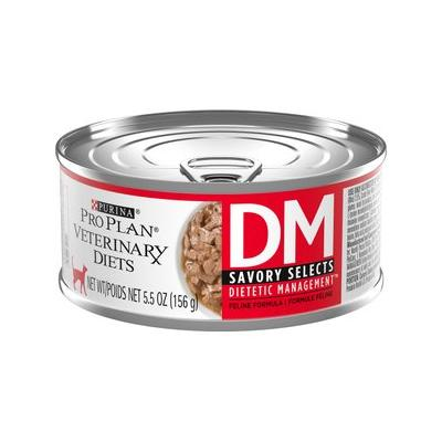 Purina Veterinary Diets DM Savory Selects Dietetic Management Formula Canned Cat Food, 5.5-oz