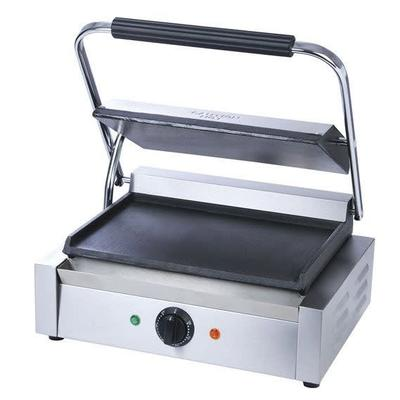 Adcraft SG-811E/F Commercial Panini Press w/ Cast Iron Smooth Plates, 120v on Sale