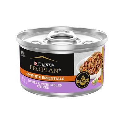 Purina Pro Plan Savor Adult Turkey & Vegetable Entree in Gravy Canned Cat Food, 3-oz, case of 24
