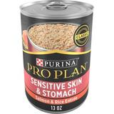 Purina Pro Plan Select Classic Sensitive Skin & Stomach Salmon & Rice Canned Dog Food, 13-oz