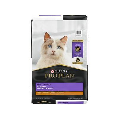 Purina Pro Plan Focus Adult Hairball Management Chicken & Rice Formula Dry Cat Food, 16-lb bag
