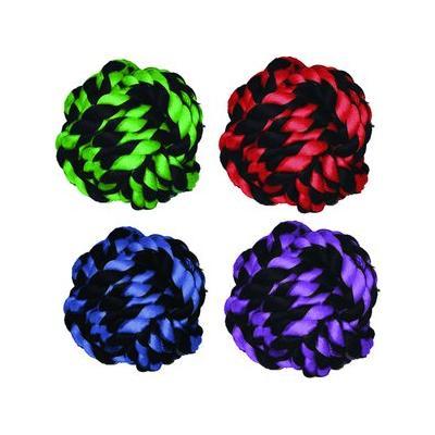 Multipet Nuts for Knots Ball Dog Toy, Color Varies, Medium